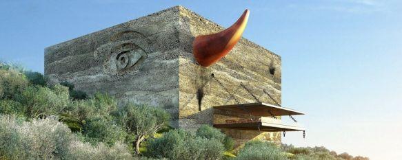 LA Almazara será un edificio monumental, un cubo de hormigón ecológico con símbolos representativos de la cultura andaluza. // LA Organic