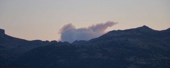 El INFOCA refuerza el despliegue de medios para la extinción del incendio forestal de Pujerra , Hasta el momento se desconocen las causas del incendio y no se ha podido realizar medición del territorio afectado, 05 Feb 2012 - 13:48