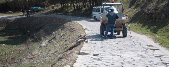 Comienza la reparación del paseo turístico que discurre por el arroyo de Las Culebras, Además de los 7.000 euros de esta actuación, se destinarán 260.000 euros para un proyecto integral a lo largo del año, 15 Feb 2012 - 18:01