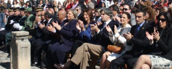 Ronda conmemora el Día de Andalucía en el paseo de Blas Infante, En el acto se ha procedido a la lectura de un manifiesto y al izado de la bandera andaluza sobre un mástil de doce metros, 28 Feb 2012 - 11:08