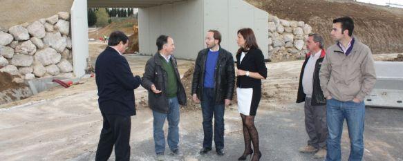 El tramo de la carretera de circunvalación de la Cruz de San Jorge podría abrirse en mayo, El proyecto cuenta con una inversión de 890.000 euros, procedentes del préstamo ICO, 18 Apr 2012 - 19:30