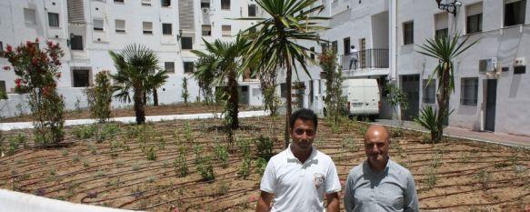 Inauguran los nuevos jardines de la plaza La Rondeña, La nueva zona verde se encuentra situada en el edificio de La Redonda , 30 May 2012 - 18:03