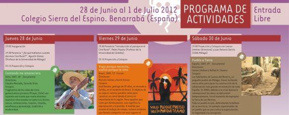 Cinemascampo reúne a una treintena de profesionales del cine rural en Benarrabá, La Sección Tierra Arada tendrá lugar desde el 28 de junio hasta el 1 de julio, 27 Jun 2012 - 18:46