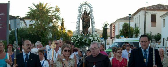 La Virgen de la Cabeza se encuentra ya en su altar de Santa María de la Encarnación, La Eucaristía fue presidida por Fray José Luis Gavarrón, quien participó en la reorganización de la Hermandad, 29 Aug 2012 - 17:03